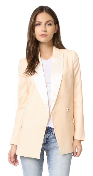 Blaque Label Blaque Label Fitted Tuxedo Jacket Blouse in cream - A long, formfitting Blaque Label blazer, styled with...