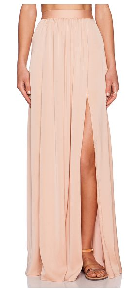 "Blaque Label Maxi skirt in beige - Poly blend. Skirt measures approx 46"""" in length...."