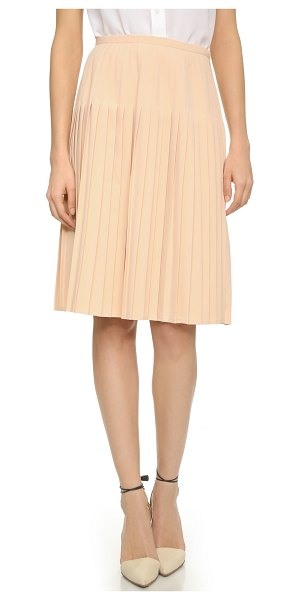 Blaque Label Pleated skirt in nude - Sharp pleats bring structured volume to this A line...