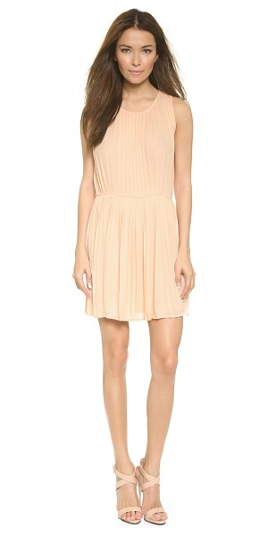 Blaque Label Pleated tank dress in pale nude - Sharp pleats bring allover volume to this tank style...