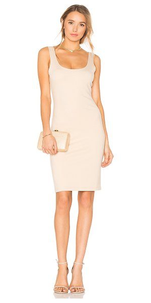 Blaque Label Scoop Neck Dress in nude - Self: 61% rayon 39% nylonLining: 95% poly 5% spandex....