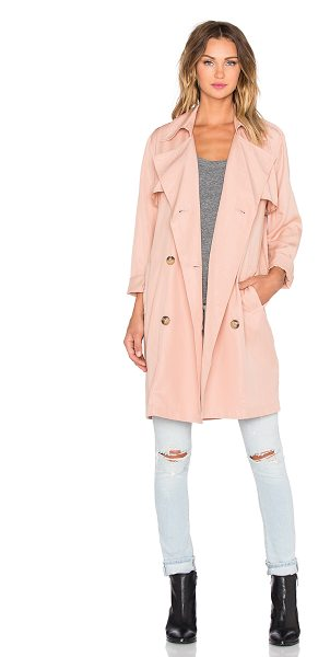 BLAQUE LABEL Trench coat - 100% tencel. Dry clean only. Front double breasted...