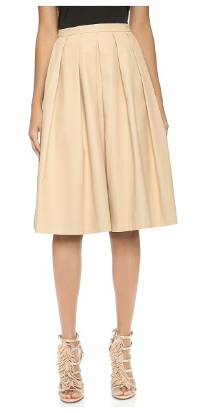 Blaque Label Vegan leather full skirt in sand - A pleated Blaque Label skirt cut from supple faux...