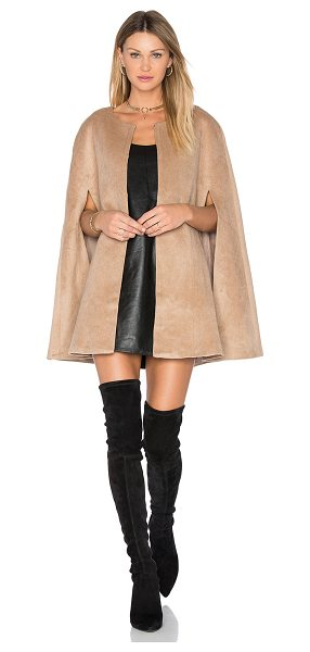 Blaque Label Wool Cape in tan - Self: 65% tetron 35% woolLining: 100% poly. Dry clean...
