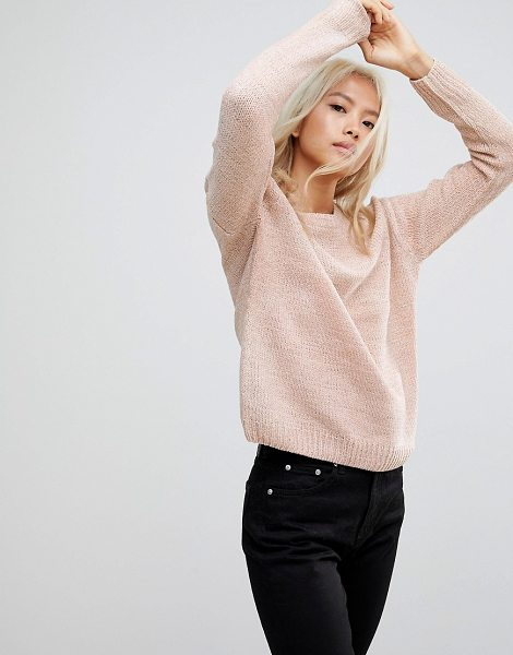 Blend She rosie round neck chenille sweater in mahoganyrose - Sweater by BlendShe, Round neck, Dropped shoulders,...