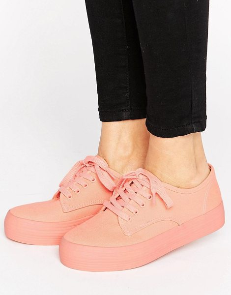 Blink Flatform Sneaker in pink - Shoes by Blink, Canvas style upper, Lace-up fastening,...
