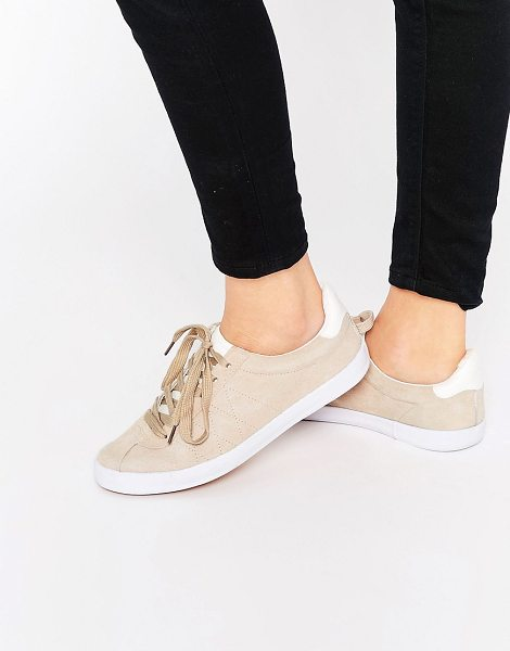 Blink Suede Lace Up Sneaker Sneakers in beige - Shoes by Blink, Real suede upper, Lace-up fastening,...