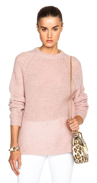 BLK DNM Sweater 32 in pink - Mohair blend.  Made in China.  Knit fabric.  Rib knit trim.
