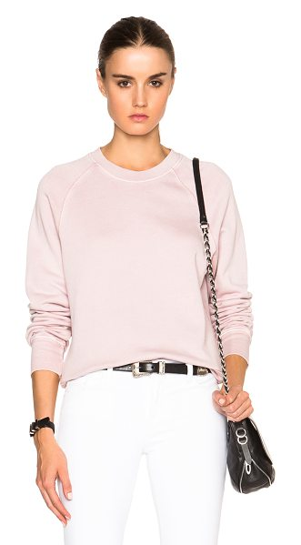 BLK DNM Sweatshirt 18 in pink - 100% cotton.  Made in China.  Rib knit trim.