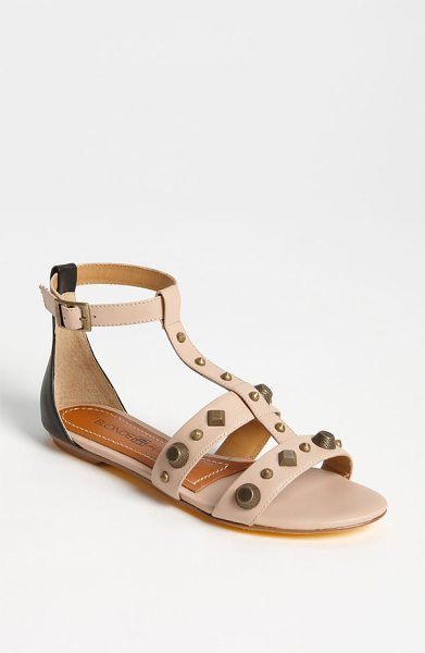 Blonde Ambition veracruz sandal in nude - Mixed, brushed studs punctuate a foot-baring T-strap...