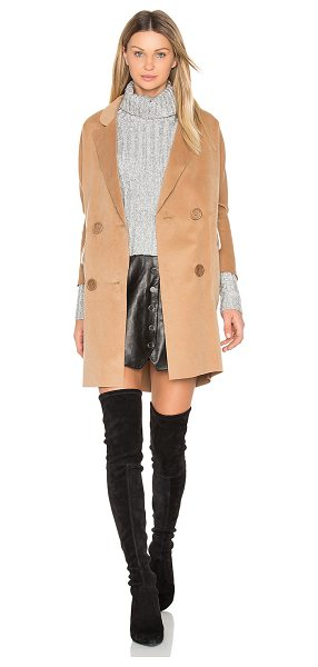 BLQ BASIQ 3/4 Coat - 80% poly 20% viscose. Dry clean only. Button front...