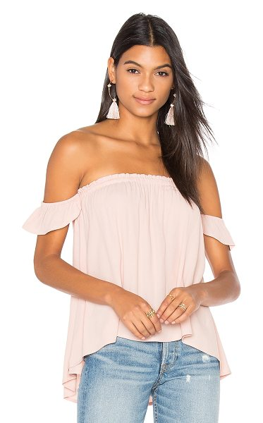 BLQ BASIQ Off Shoulder Top in blush - 95% poly 5% spandex. Dry clean only. Elasticized...
