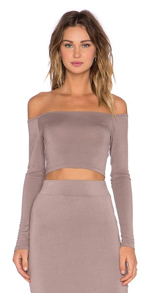 BLQ BASIQ Off the shoulder crop top - 95% rayon 5% spandex. Hand wash cold. BLQB-WS45....