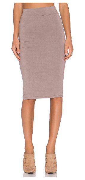BLQ BASIQ Pencil skirt in taupe - 95% rayon 5% spandex. Hand wash cold. Lined. Elasticized...