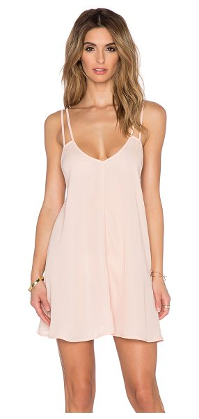 BLQ BASIQ Tank dress in peach - 100% poly. Dry clean only. Unlined. BLQB-WD47. MD339....