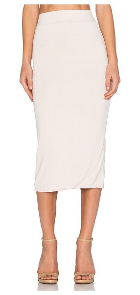 BLQ BASIQ x REVOLVE Exclusive Midi Skirt in beige - 95% rayon 5% spandex. Hand wash cold. Unlined....