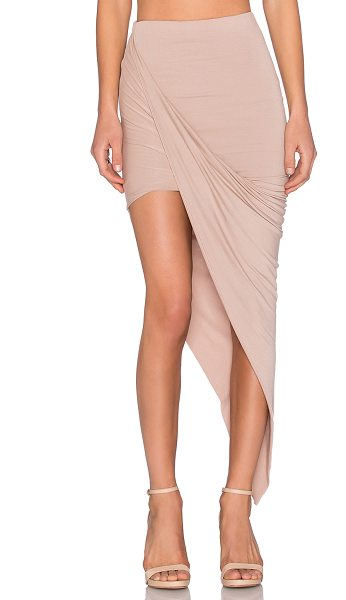 BLQ BASIQ x REVOLVE Exclusive Wrap Skirt in tan - 95% rayon 5% spandex. Hand wash cold. Partially lined....