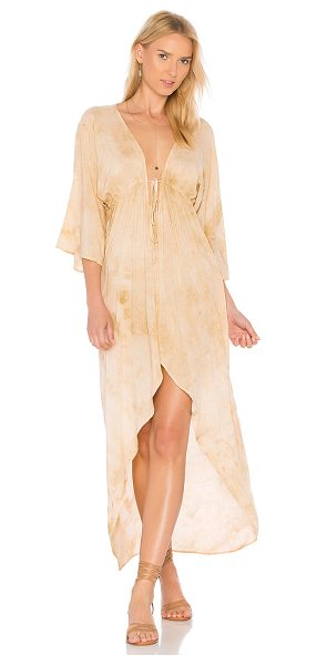Blue Life Beach Bar Maxi in beige - 100% rayon. Dry clean only. Unlined. Elasticized...