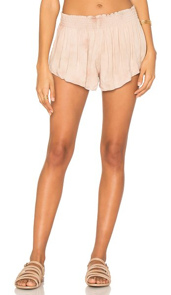 "Blue Life Beach Bunny Short in blush - ""100% rayon. Dry clean only. Elastic smocked waist...."