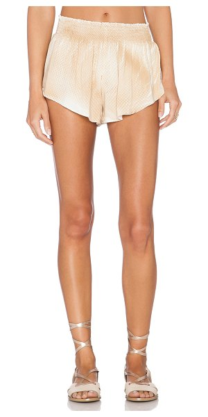 "Blue Life Beach bunny short in tan - 100% rayon. Dry clean only. Shorts measure approx 9"""" in..."