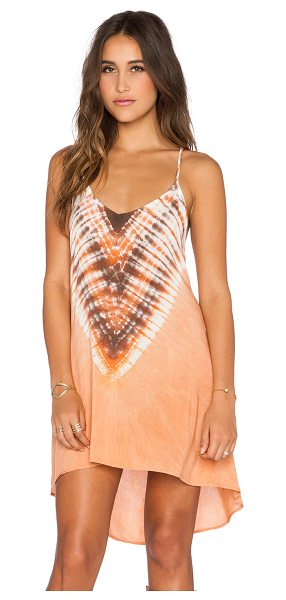Blue Life Exile dress in coral - 100% rayon. Dry clean only. Adjustable shoulder straps....
