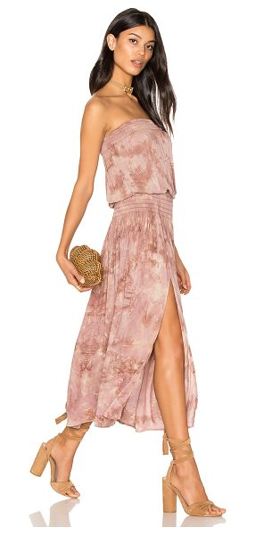 "Blue Life Good Karma Maxi Dress in mauve - ""100% rayon. Dry clean only. Unlined. Elastic smocked..."