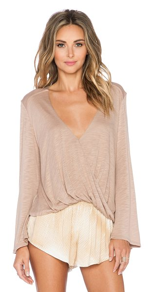 Blue Life Hayley long sleeve top in tan - 100% micro modal. Dry clean only. BLUE-WS566. 001 1205....