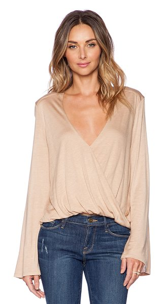 Blue Life Hayley top in beige - 100% micro modal. Dry clean only. Twist wrap front....
