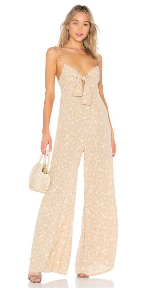 "Blue Life Joyride Jumpsuit in beige - ""100% rayon. Dry clean only. Front tie closure...."