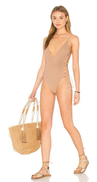 Blue Life Mermaid One Piece in beige - 97% cotton 3% spandex. Hand wash cold. Mesh fabric....