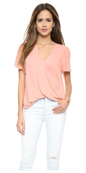 Blue Life Valentina blouse in v-day pink - Draping softens the look of this lightweight Blue Life...