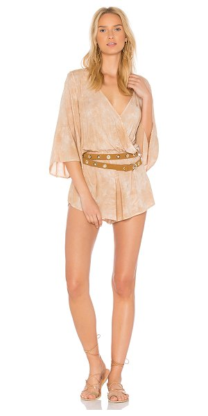 "BLUE LIFE Wild And Free Romper - ""100% rayon. Dry clean only. Surplice neckline with snap..."