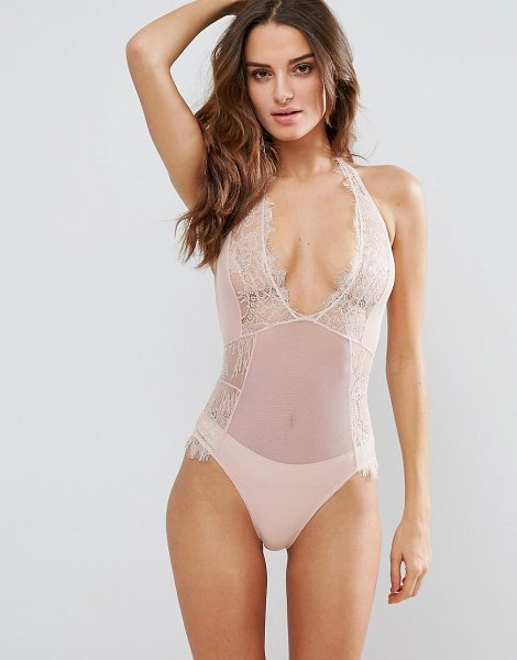 "Bluebella Amelie Body in pink - """"Body by BlueBella, Sheer mesh, Lace overlays, Plunge..."