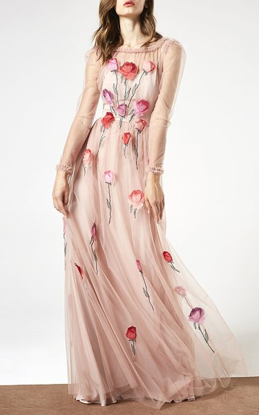 Blumarine Illusion Roses Gown in neutral - This *Blumarine* Illusion Roses Gown features a delicate...