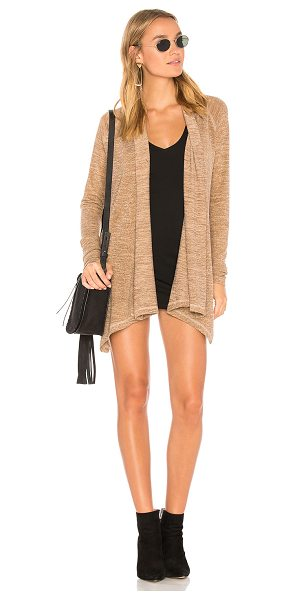 Bobi Heavy Knit Cardigan in tan