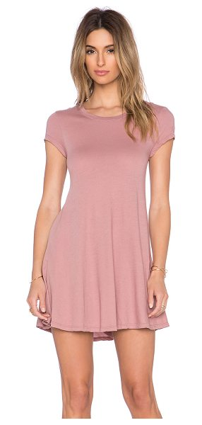 Bobi Light weight jersey tee dress in blush - 100% cotton. Unlined. BOBI-WD932. B 51186. Bobi is an LA...