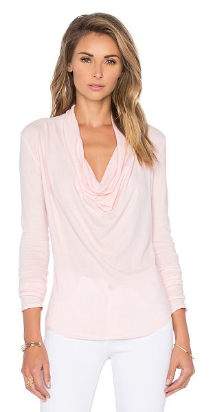 Bobi Lightweight jersey cowl neck long sleeve tee in pink - 100% cotton. Cowl neck. BOBI-WS1807. 575 61171. Bobi is...