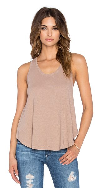 Bobi Slubbed jersey swing tank in tan - 100% cotton. Slub fabric. BOBI-WS1718. B 15132. Bobi is...