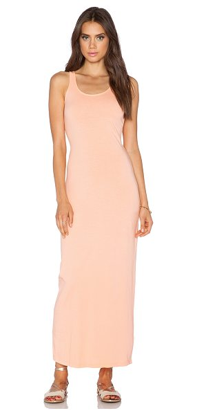 Bobi Supreme Jersey Maxi Dress in peach - 100% cotton. Unlined. BOBI-WD871. 515 49209. Bobi is an...