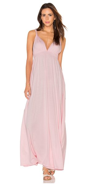 BOBI Supreme Jersey Maxi Tank Dress - 100% cotton. Unlined. Twisted shoulder straps....