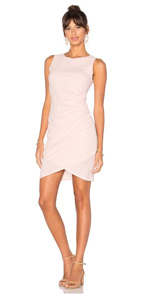 Bobi Supreme Jersey Ruched Bodycon Dress in pink - 100% cotton. Machine wash. Unlined. Gathered fabric...