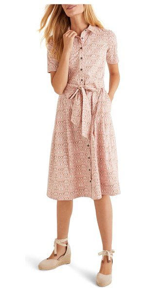 BODEN anatasia fit & flare shirtdress in pink