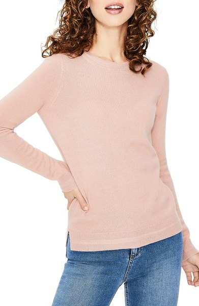 BODEN cashmere sweater in pink - An indispensable pullover available in a stack of...