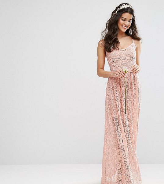 """Body Frock Bodyfrock Cami Strap Maxi Dress in Allover Lace in brown - """"""""Lace dress by Body Frock, Partially-lined lace,..."""