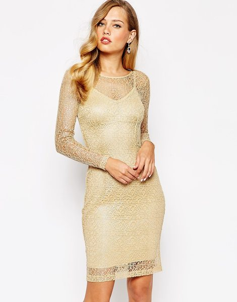 Body Frock Elisa dress in honey - Dress by Body Frock Made in Portugal Sheer lace Color...