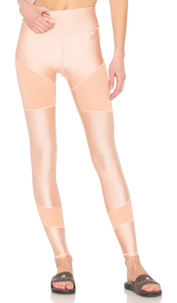 Body Language Kiki Legging in blush - 80% nylon 20% spandex. Stretch fit. Contrast ribbed...