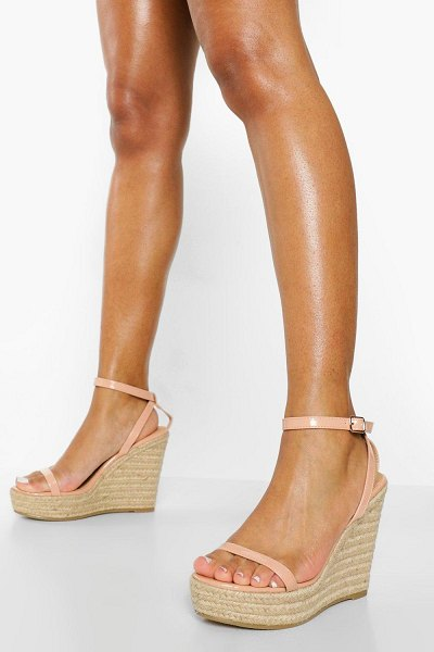 Boohoo 2 Part Espadrille Wedge in nude