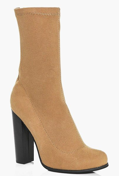 BOOHOO Abbie Jersey Sock Boot - We'll make sure your shoes keep you one stylish step...