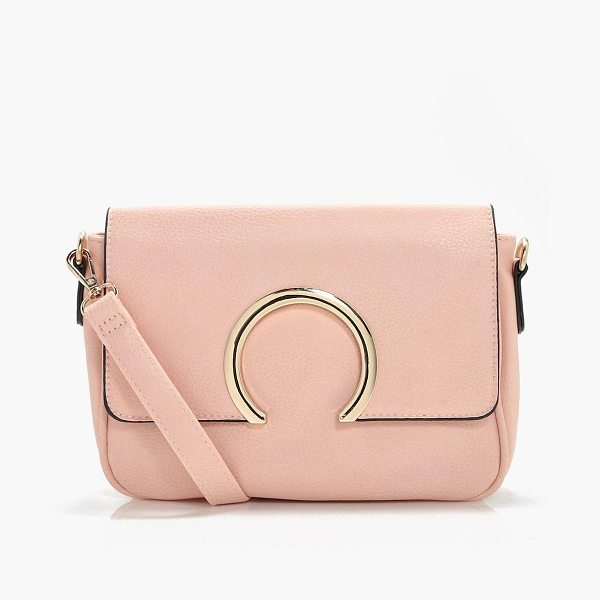Boohoo Abbie Metal Ring Cross Body in pink - Add attitude with accessories for those fashion-forward...