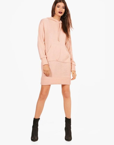 BOOHOO Abigail Hooded Jumper Dress - Nail new season knitwear in the jumpers and cardigans...